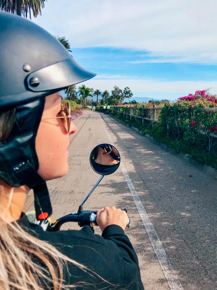 Scootering around Santa Barbara - photo by Passports and Preemies