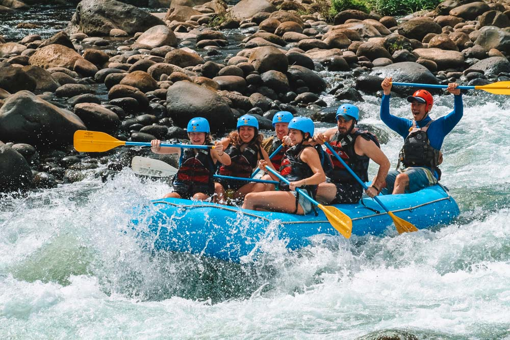 Me and my friends rafting in Costa Rica