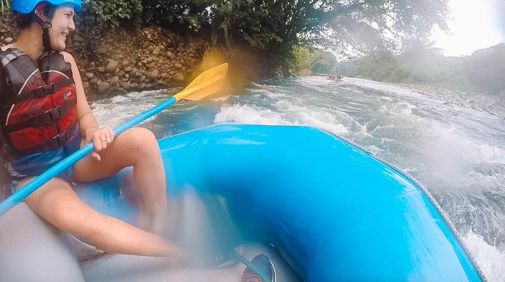 Blurry GoPro shots from our Costa Rica rafting experience