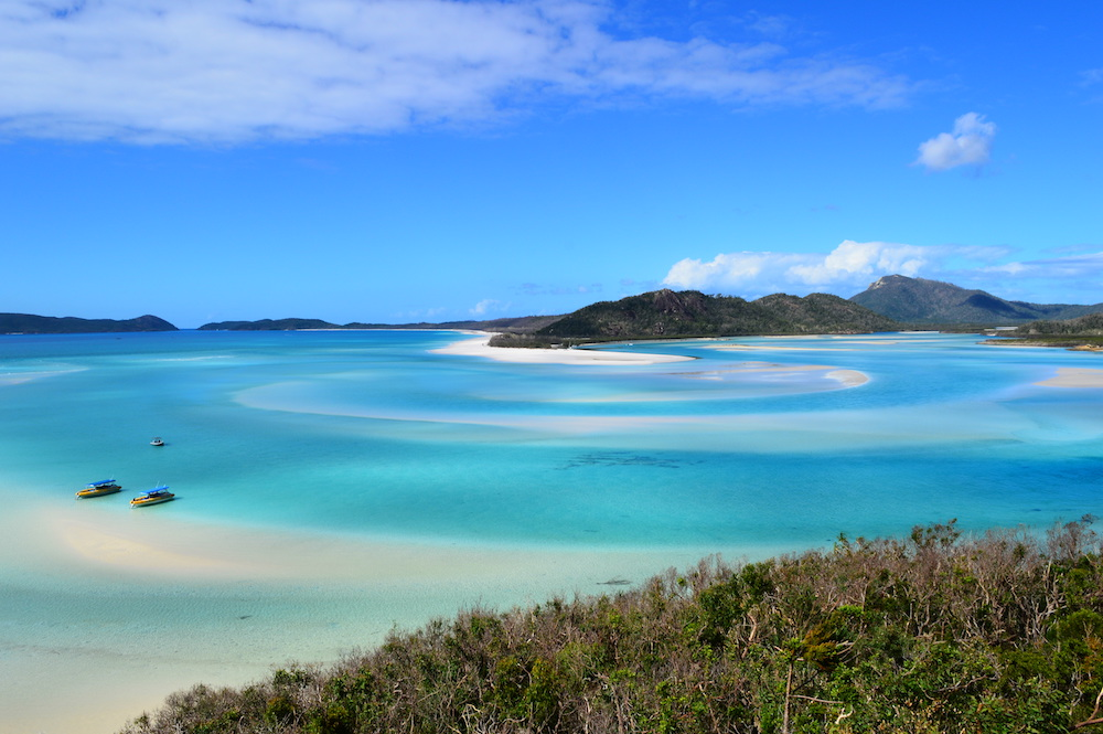 View over Whitehaven Beach from Hill Inlet Lookout in the Whitsunday Islands - Photo by Svenja Schmikal on Scopio