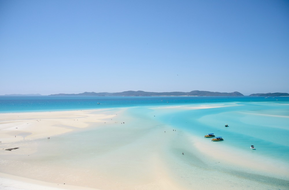 The view over Whitehaven Beach from Hill Inlet Lookout in the Whitsundays - Photo by Stephanie Bruce on Scopio