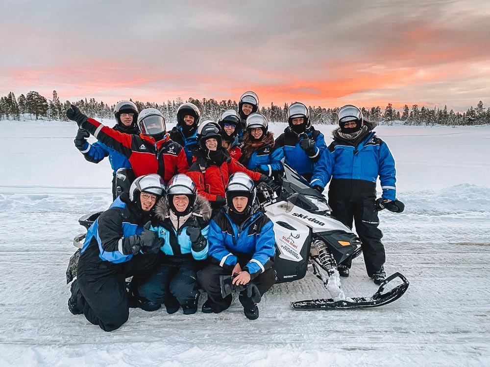 My snowmobile safari crew in Lapland