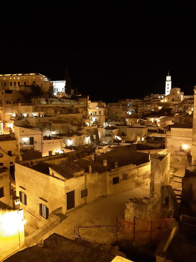 Exploring Matera by night