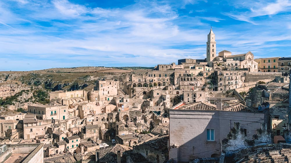 The view over the Sassi of Matera from our bnb; The View Matera