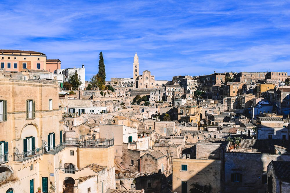 The view over the Sassi of Matera from Belvedere Luigi Gurrigghio
