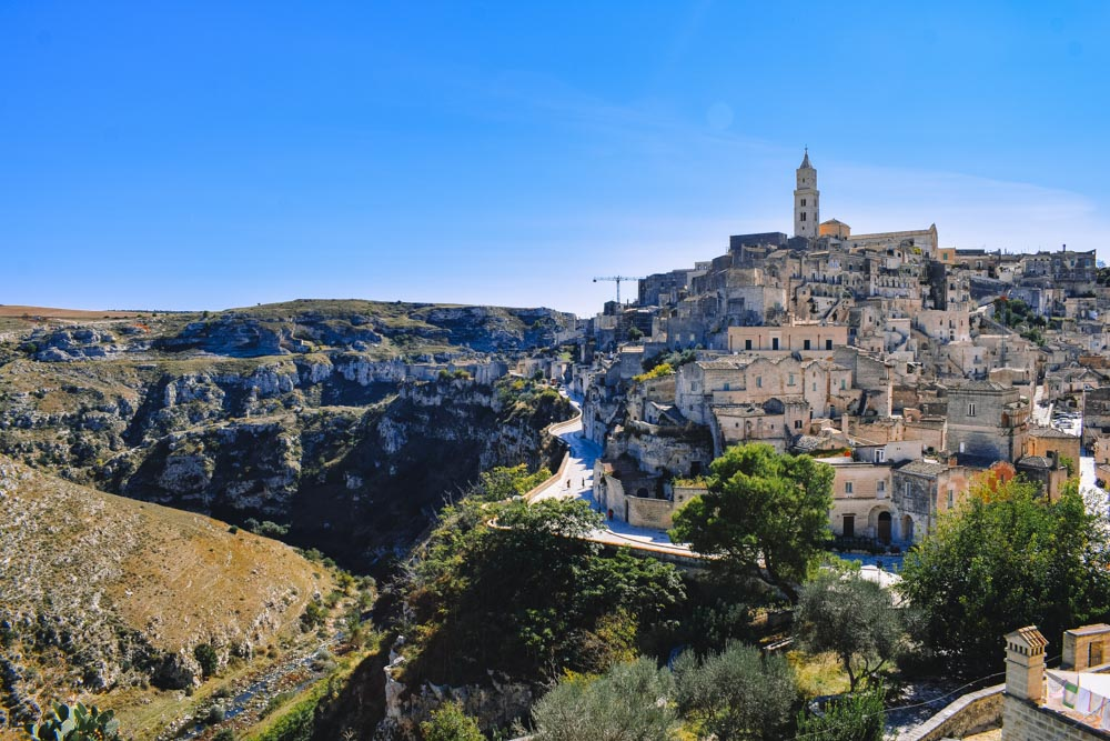The gorgeous view over Matera from the Convento di Sant'Agostino