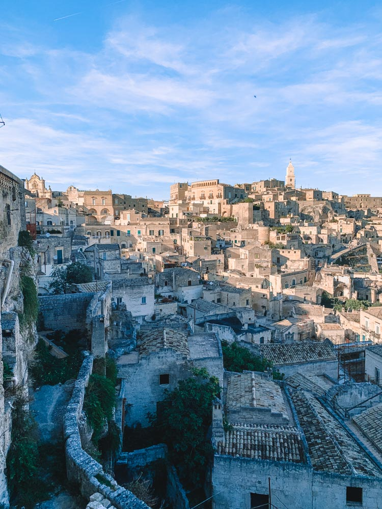 The view over the Sassi of Matera from Belvedere Piazzetta Pascoli