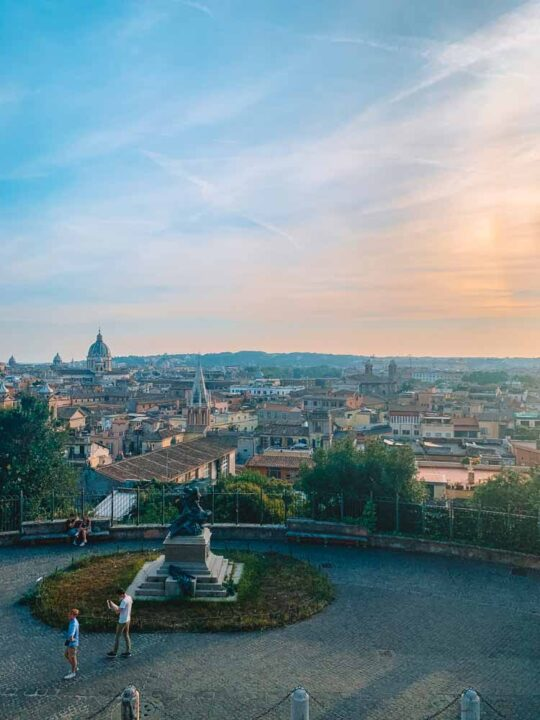 One of the best views over Rome from Villa Borghese