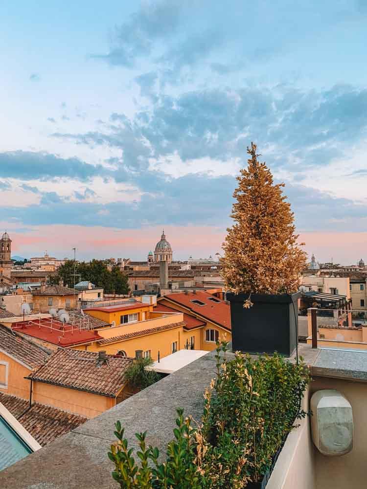 View over Rome from AcquaRoof Terrazza Molinari