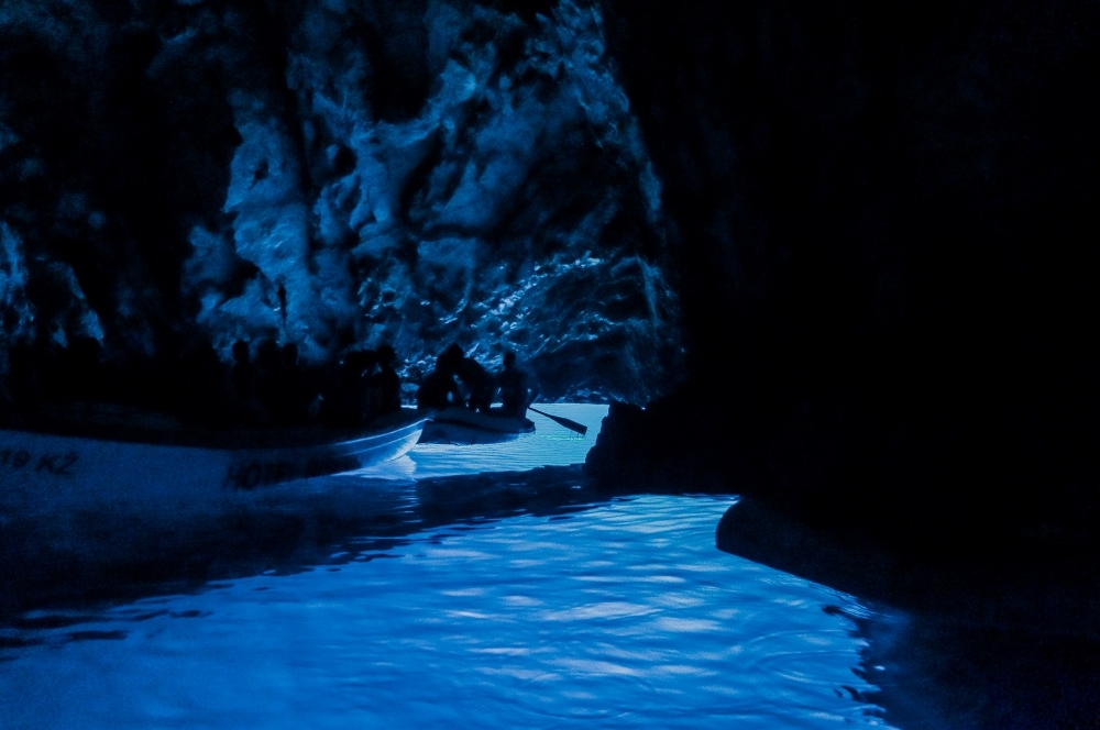 Exploring the Blue Cave in Croatia - photo by Faraway Worlds
