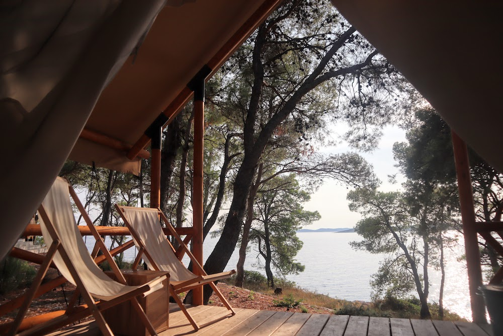 Glamping in Obonjan. Croatia - photo by Stoked to Travel