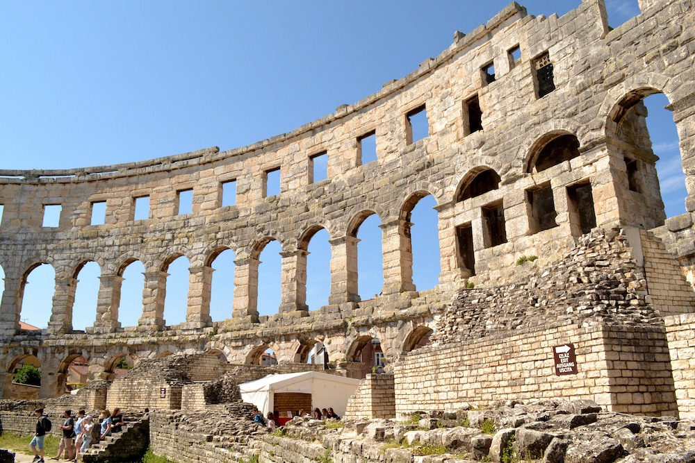 Pula amphitheater in Istria - photo by BudgetTravelBuff