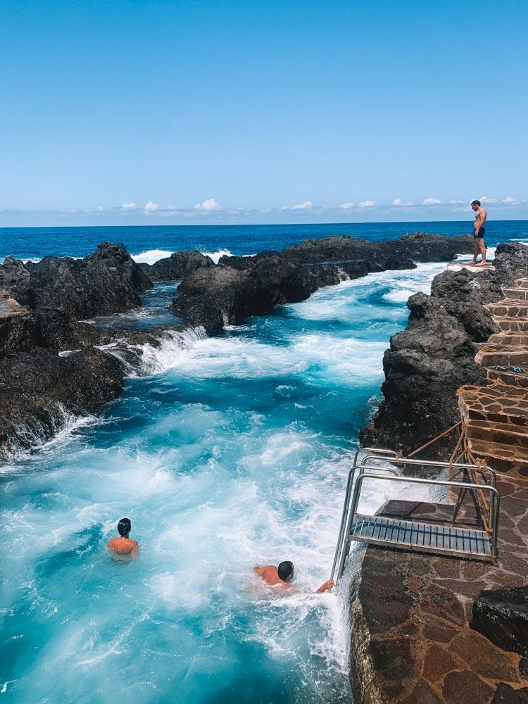 The Piscinas Naturales de El Caleton in Garachico, Tenerife