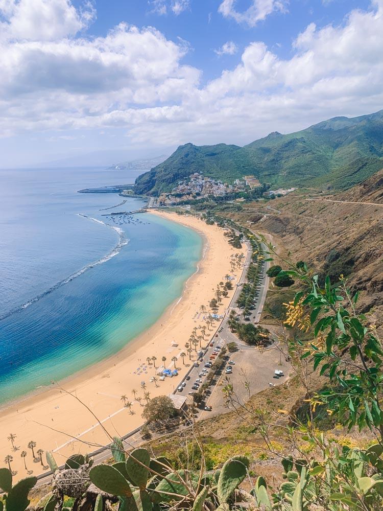 Playa de las Teresitas from above