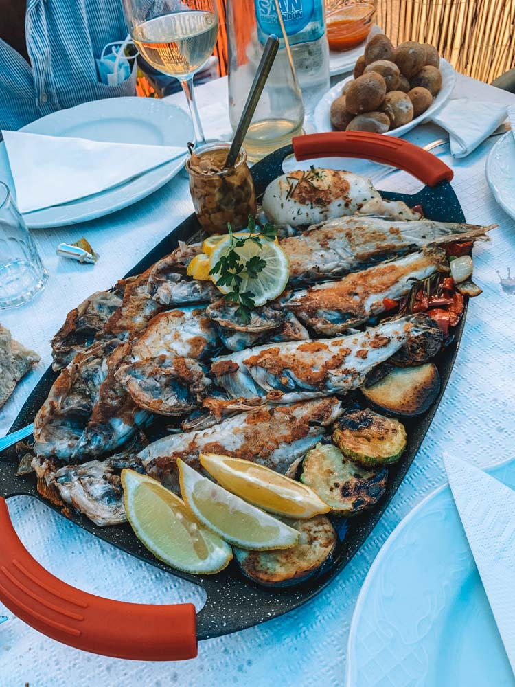 An awesome platter of fresh fish that we had at Delicias del Mar in Tenerife