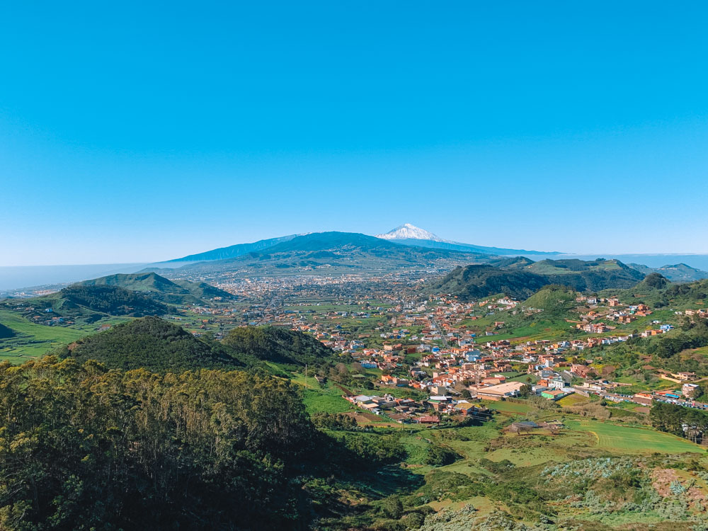 The view over Tenerife from Mirador Cruz del Carmen