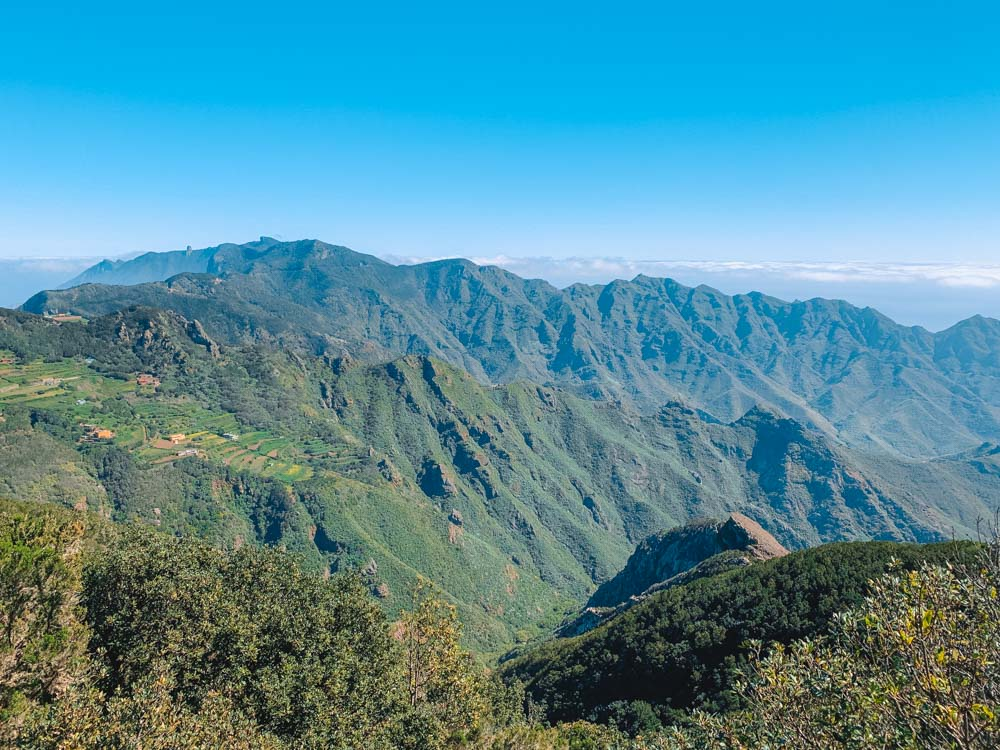 The panoramic views and mountains of Parque Rural de Anaga