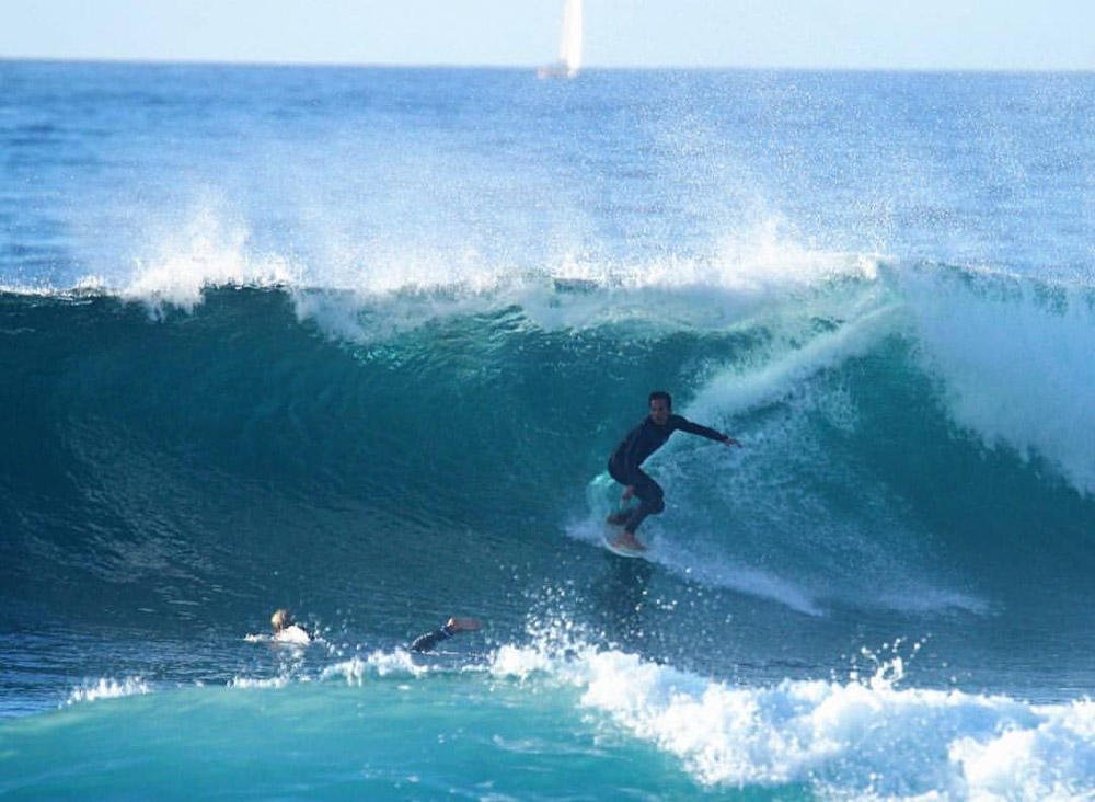 My friend Alejandro Calle Rattia surfing in La Derecha, Tenerife