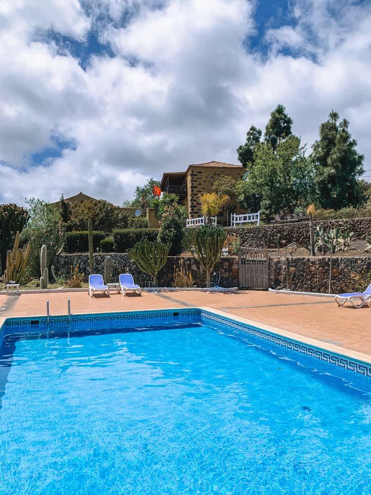 The pool at Hotel Rural La Correa Del Almendro in Arona, Tenerife
