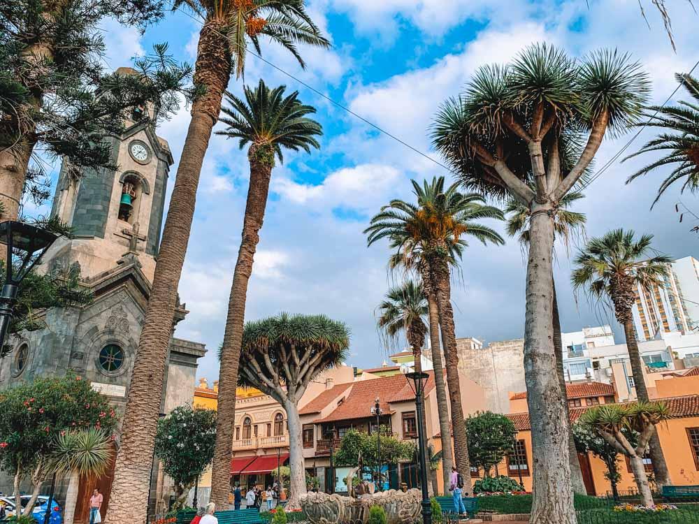 Exploring the city centre of Puerto de la Cruz, Tenerife
