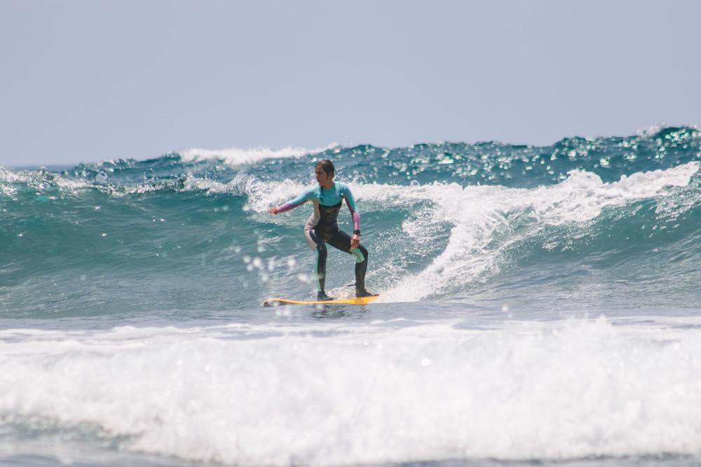 My friend Martina Mariani surfing in Fitenia