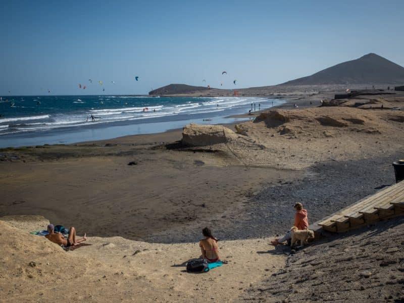 The popular kitesurfing beach in El Medano - Photo by Valentina Borghi of BeBorghi