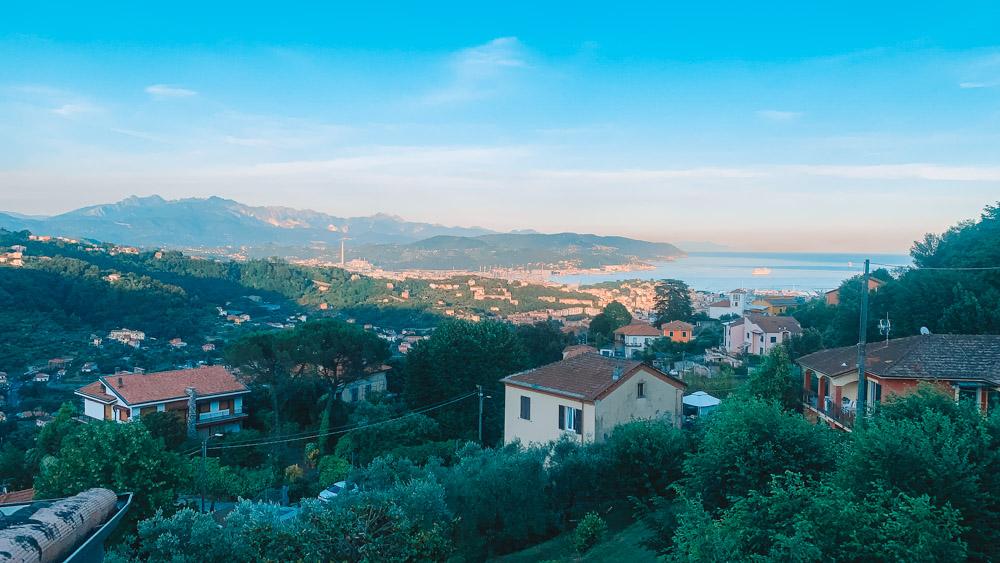 View over La Spezia from La Foce, Italy