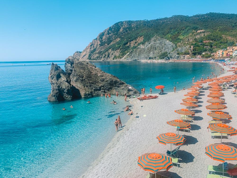 Fegina Beach in Monterosso al Mare in Cinque Terre