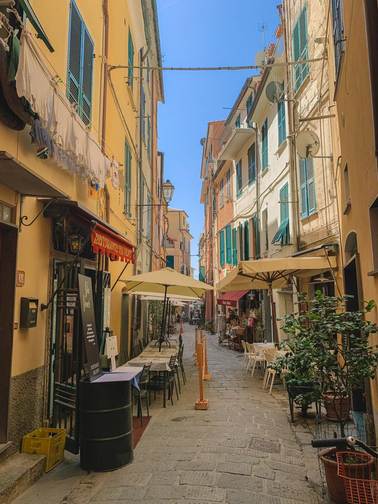 The cute streets of Monterosso al Mare - the best place to stay in Cinque Terre for a beach vacation
