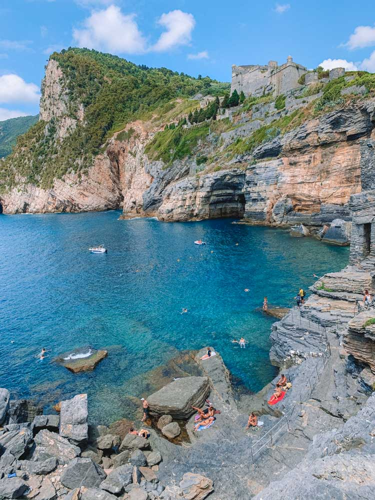 Grotta di Lord Byron in Porto Venere, a great spot for swimming and sunbathing