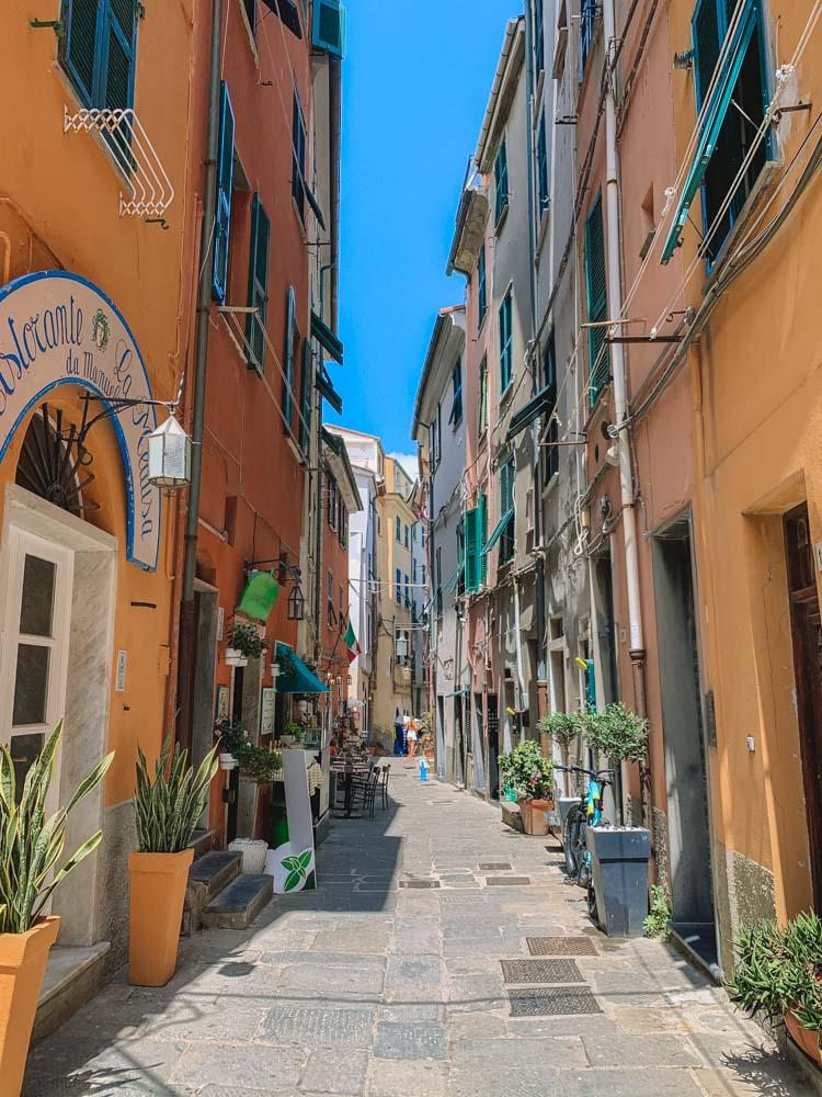 The cute streets of Porto Venere in Italy