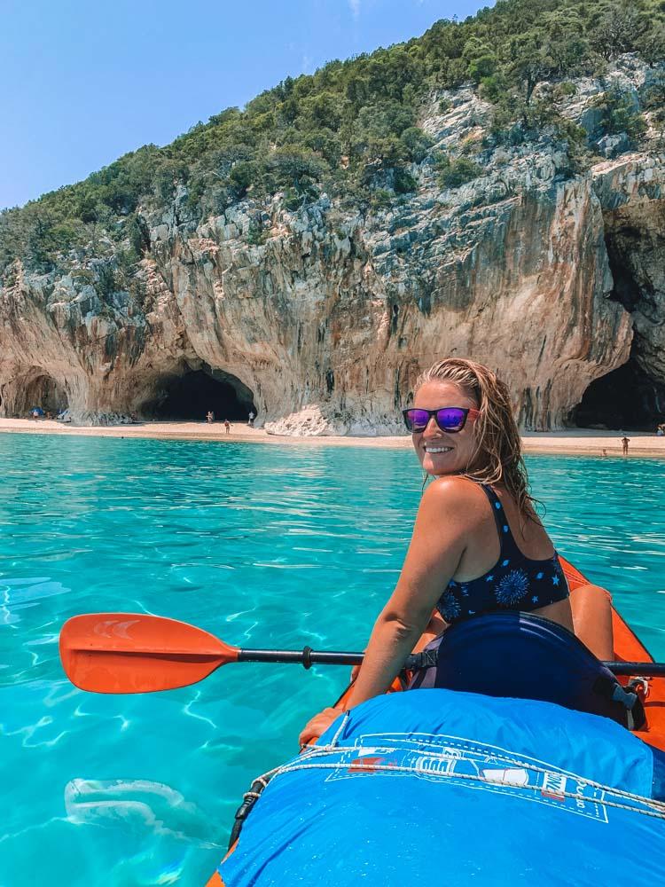 Exploring the Golfo di Orosei and Cala Luna by kayak in Sardinia, Italy