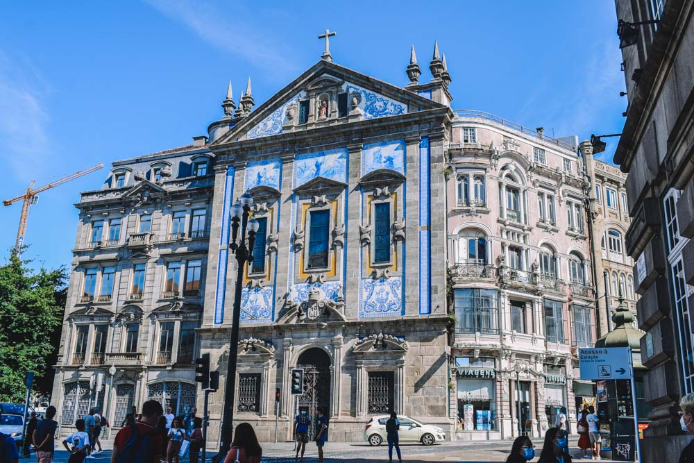 One of the many beautiful azulejos facades that you will find in Porto