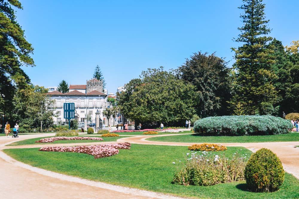The Jardins do Palacio de Cristal in Porto, Portugal