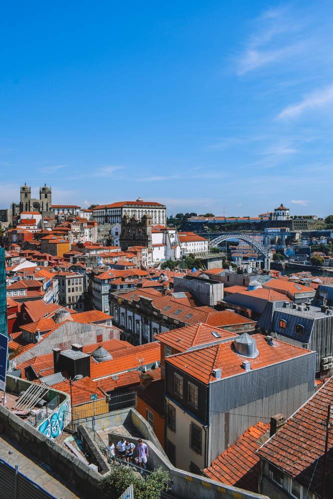 The view from Miradouro da Vitoria in Porto, Portugal