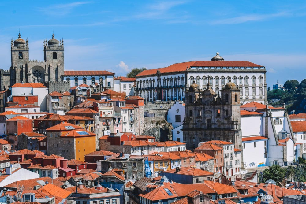 The rooftops of Porto as seen from from Miradouro da Vitoria