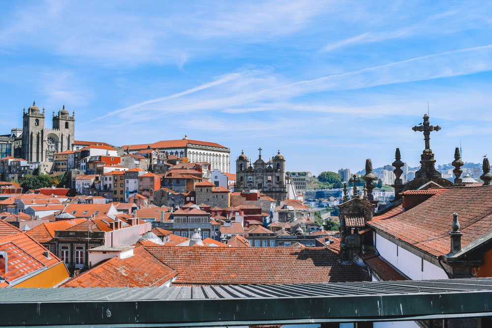 The view over Porto from Rooftop Flores