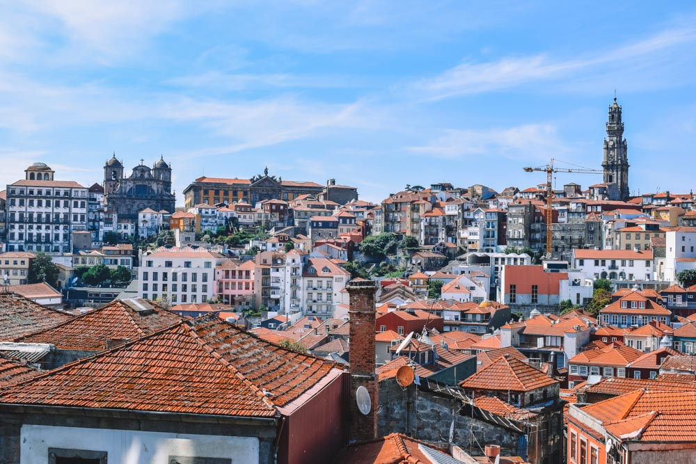 View over Porto from Porto Cathedral
