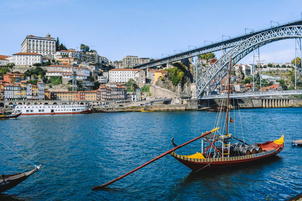 Enjoy a typical Rabelo boat cruise on the Douro River in Porto, Portugal