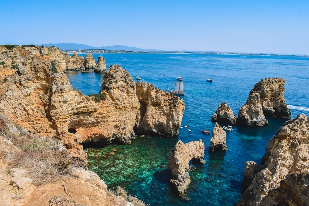 The golden cliffs and coastline of Ponta da Piedade