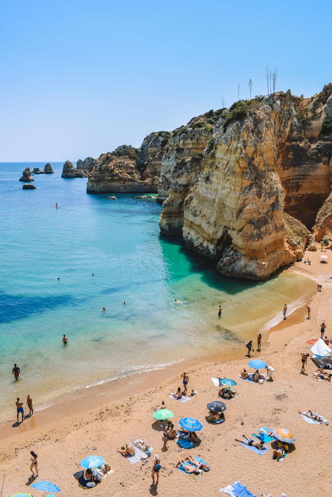View over Praia de Dona Ana in the Algarve, Portugal
