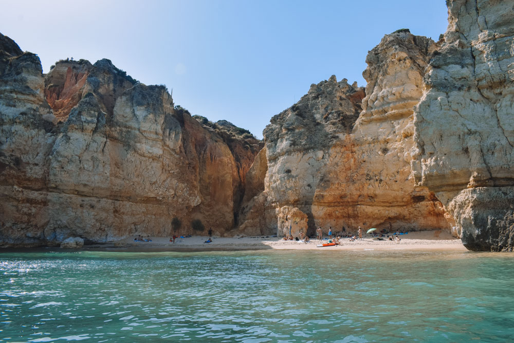 Some of the gorgeous coast and beach views you can see during your Ponta da Piedade boat tour