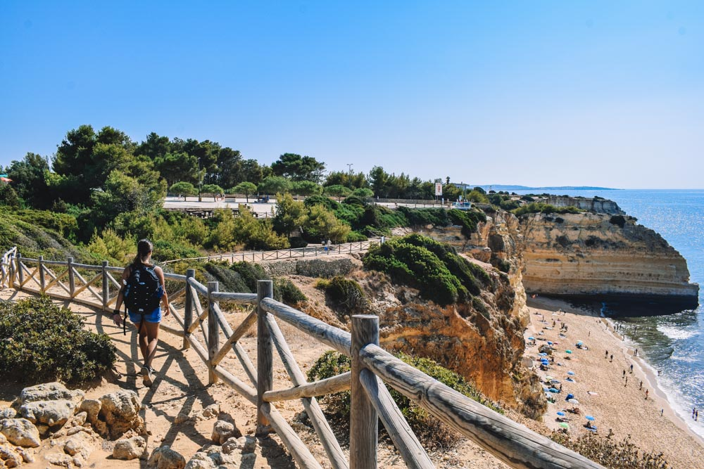Hiking the Seven Valleys Hanging trail to Praia do Marinha from Benagil