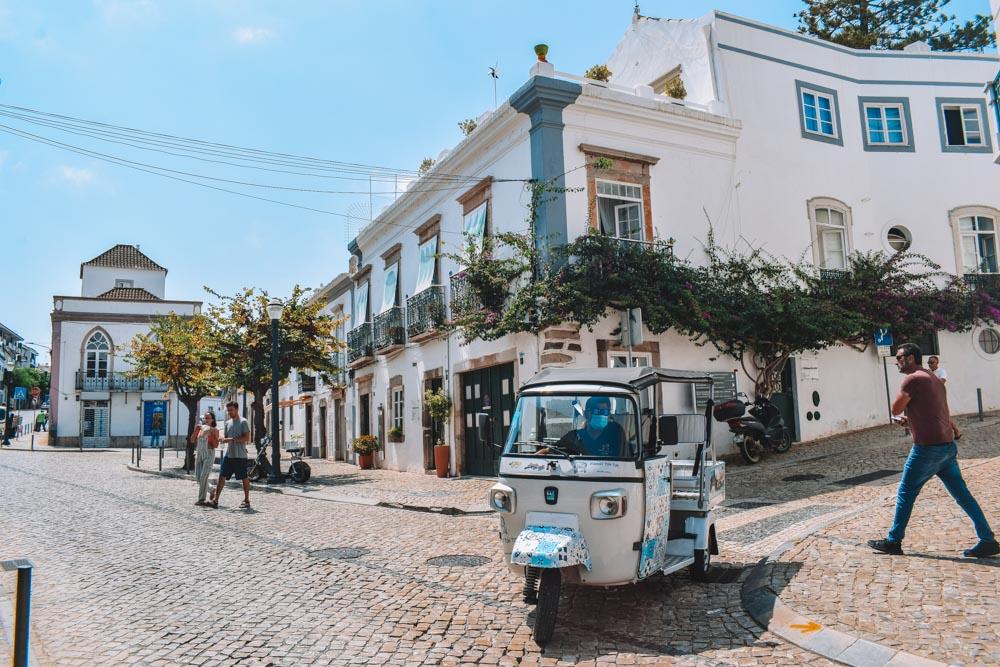 Exploring Tavira in the Algarve by tuk-tuk