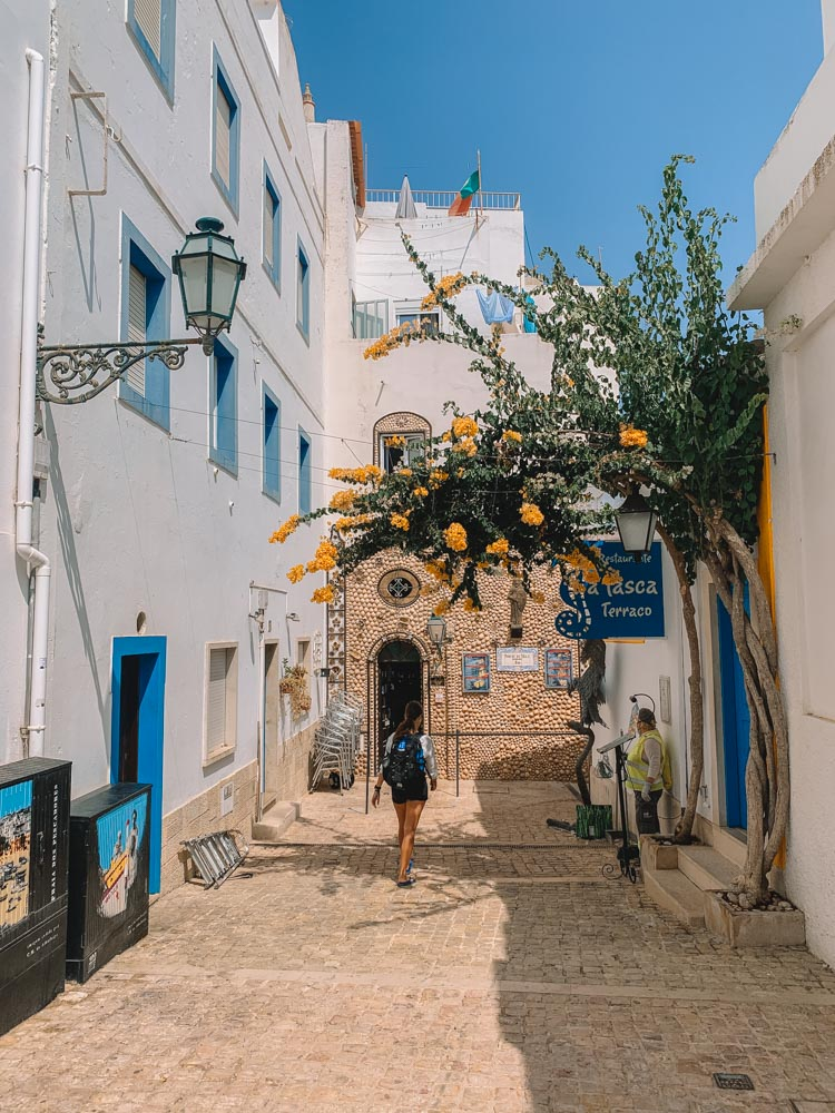 Exploring the streets of Albufeira Old Town