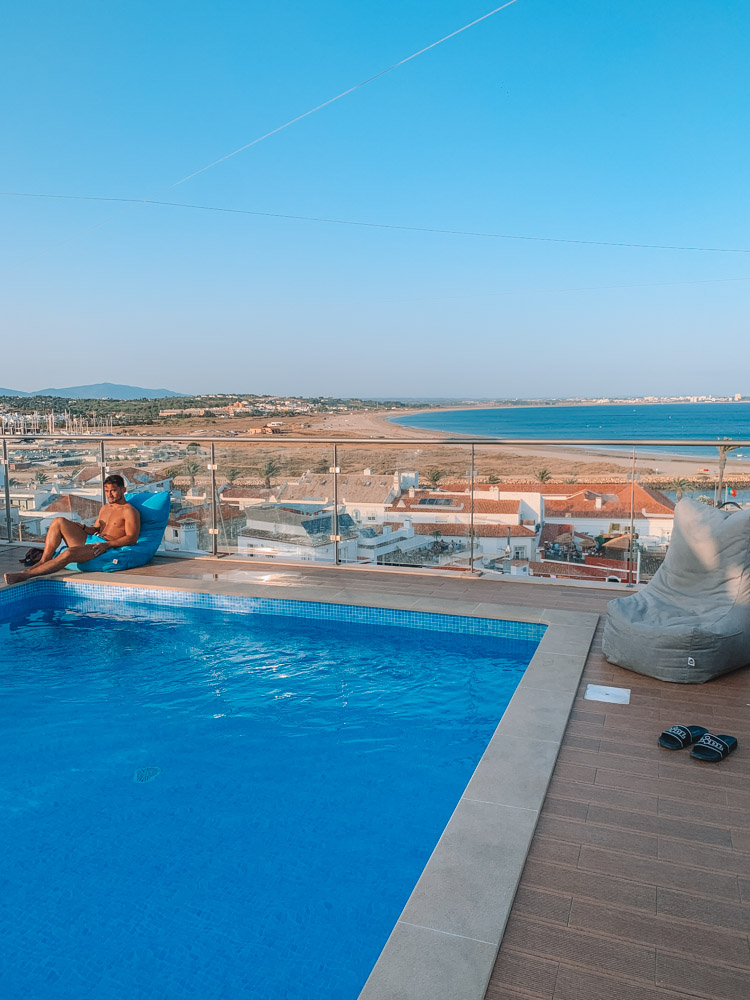 The rooftop pool at Topcity Hostel & Suites in Lagos