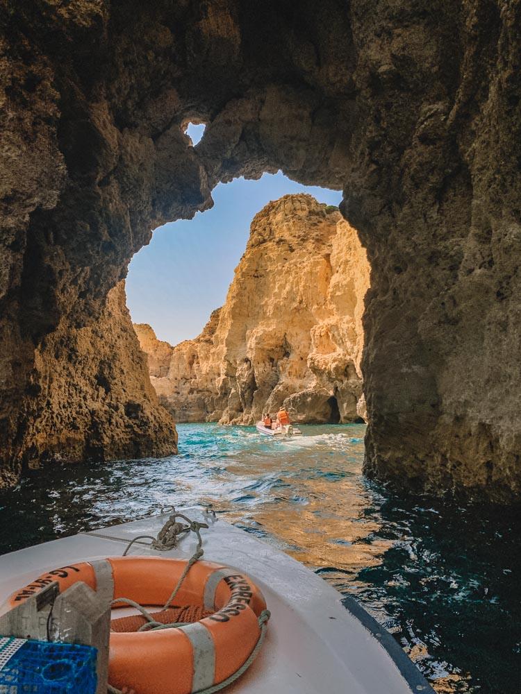 Cruising through the arches and sea caves of Ponta da Piedade