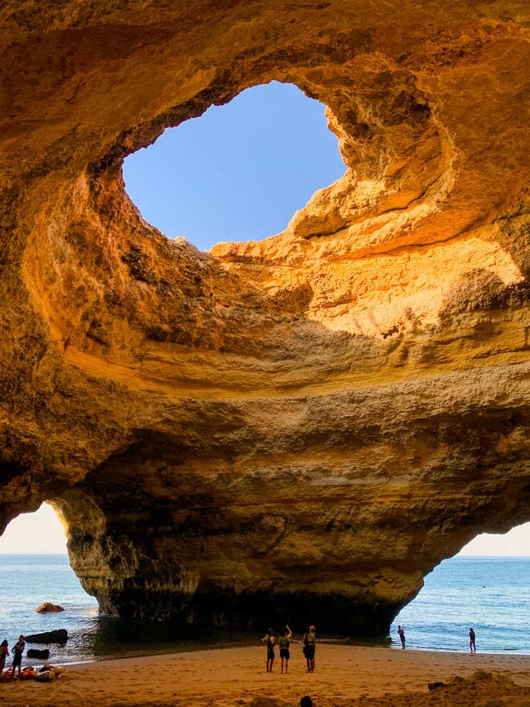 Exploring Benagil Cave in the Algarve, Portugal