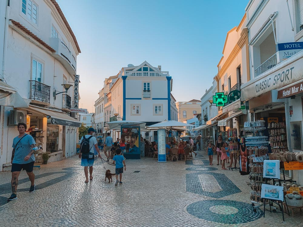 Exploring the old town centre of Lagos in Portugal