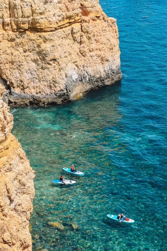 Exploring the Algarve coast by SUP